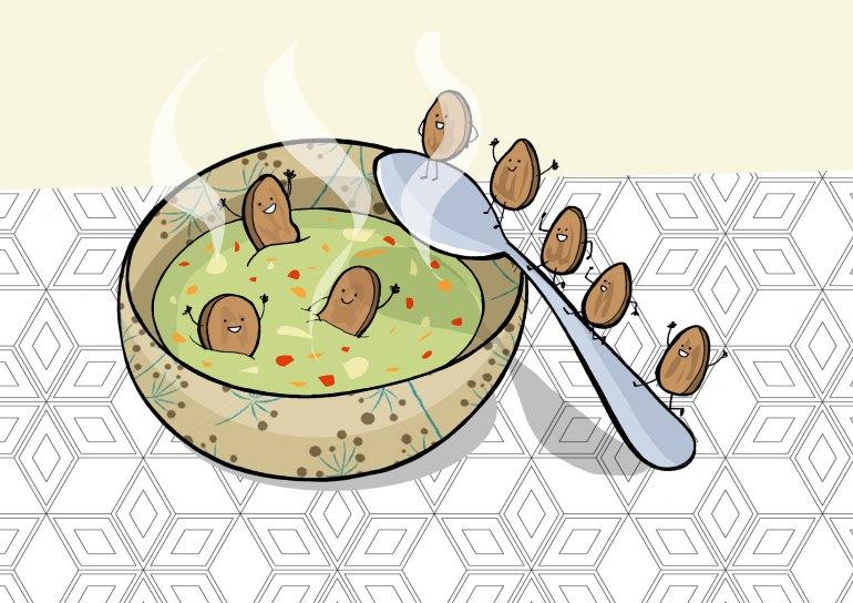 zupa vegetale con crostini